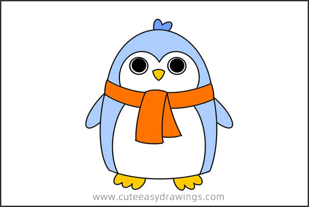 How to Draw a Penguin Easy Step by Step for Kids