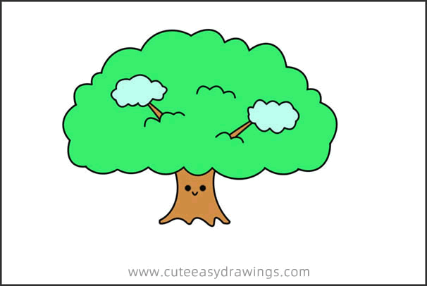 How To Draw A Cartoon Tree Easy Step By Step For Kids Cute Easy Drawings Connect with other artists and watch other cartoons drawings. how to draw a cartoon tree easy step by