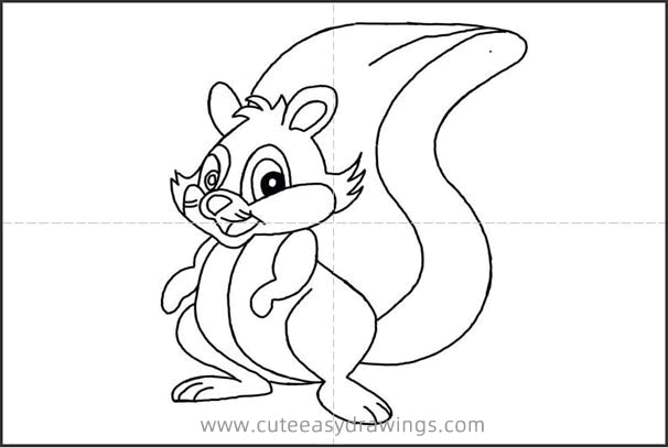 How to Draw a Cute Squirrel Step by Step for Beginners