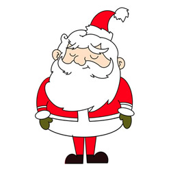 How to Draw Cartoon Santa Claus Step by Step