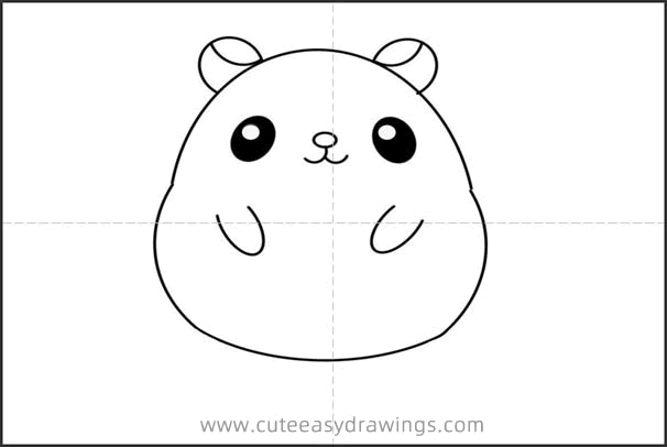Cute Hamster Drawing Step by Step for Kids