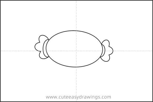 Cute Candy Drawing Step by Step for Kids