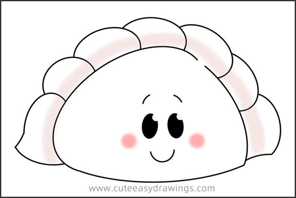 How to Draw a Cartoon Chinese-Dumpling Easy for Kids