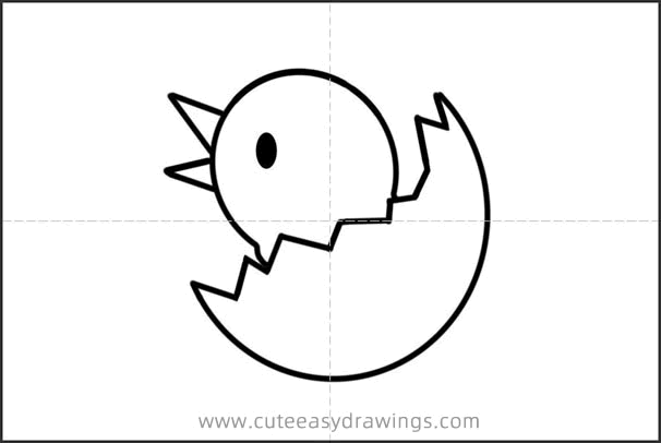 How to Draw a Cute Newborn Chick Step by Step for Kids