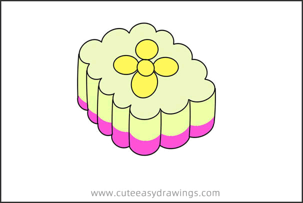 How to Draw Chinese Snowflake Pastry Easy for Kids