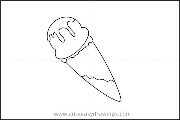 How to Draw a Strawberry Cone Easy Step by Step for Kids