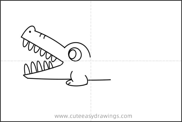 How to Draw a Cartoon Crocodile Easy Step by Step for Kids