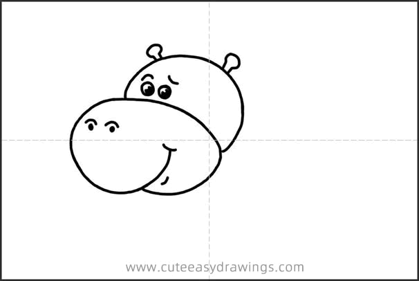 How to Draw a Funny Cartoon Hippo Step by Step for Kids