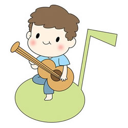 How to Draw a Boy Playing Guitar Step by Step
