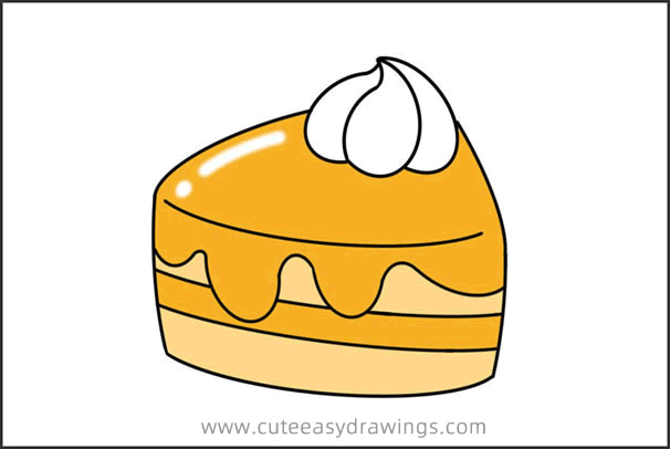 How to Draw a Mango Cake Easy Step by Step for Kids