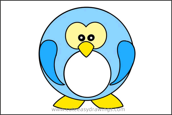 How to Draw a Funny Cartoon Penguin Easy Step by Step for Kids