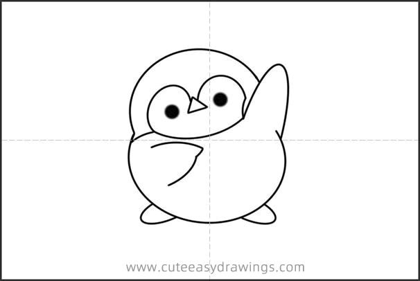 How to Draw a Penguin Exercising Easy Step by Step for Kids