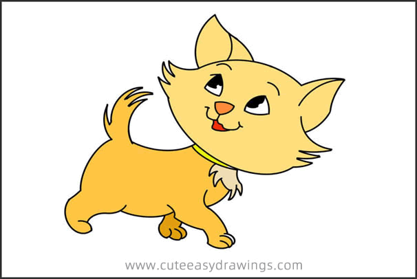 How to Simply Draw a Walking Cat Step by Step for Kids