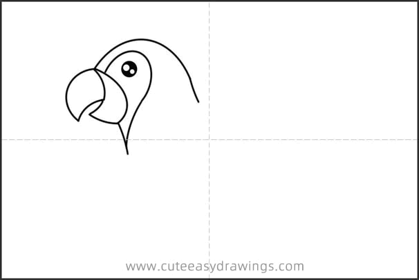 How to Simply Draw a Parrot Step by Step for Kids