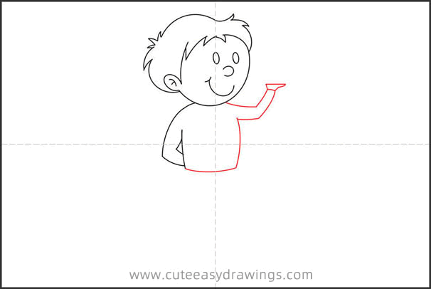 How to Draw a Male Waiter Step by Step