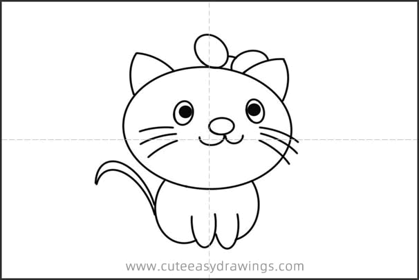 How to Draw a Female Cat Easy Step by Step for Kids