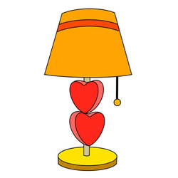 How to Draw a Table Lamp Step by Step