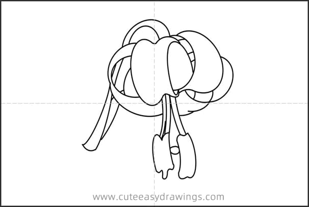 Lily Drawing Easy Step by Step for Kids