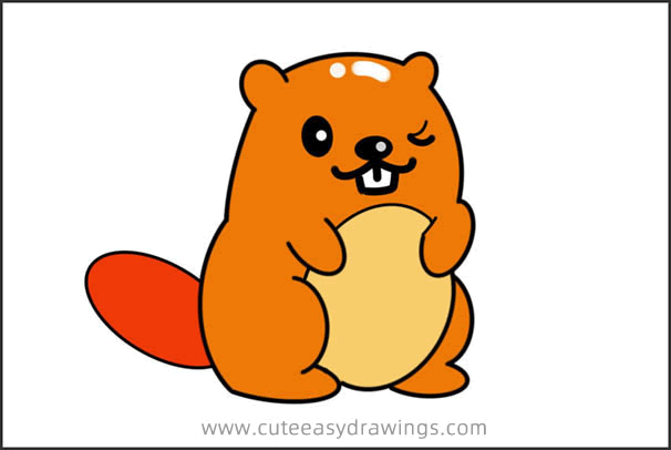 How to Draw a Chubby Squirrel Easy Step by Step for Kids