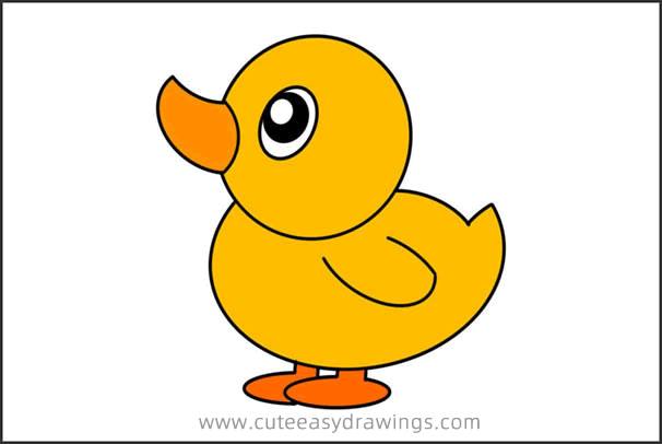 How to Draw a Colored Duck Easy Step by Step for Kids