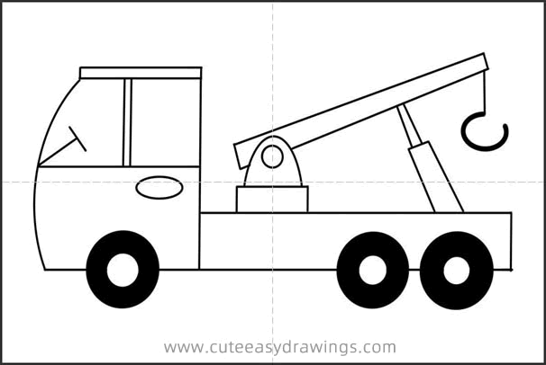 How to Draw a Cute Crane Easy Step by Step for Kids