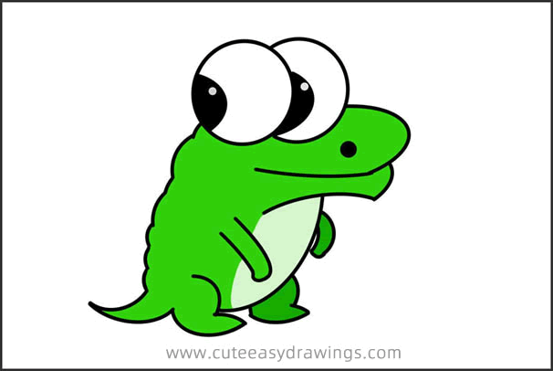How to Draw a Funny Cartoon Crocodile Step by Step for Kids