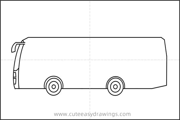 Easy Drawing Bus Tutorial for Kids