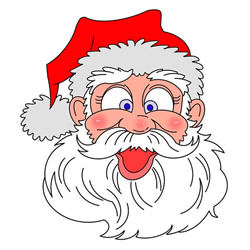 How to Draw Santa Claus Head Step by Step