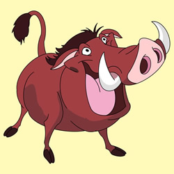 How to Draw Pumbaa Step by Step