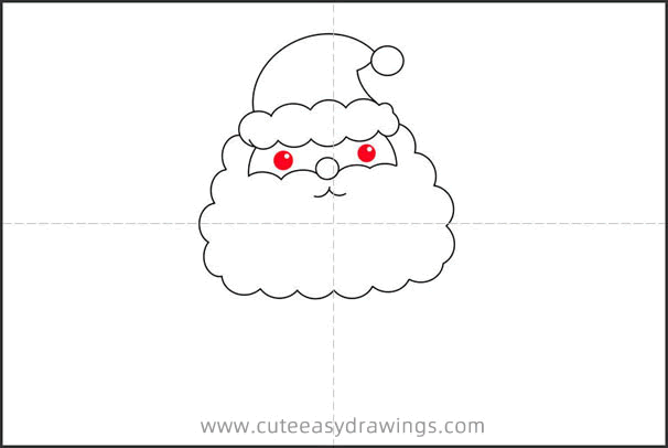 How to Draw a Cute Santa Step by Step