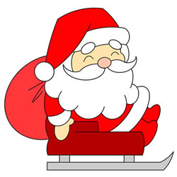 How to Draw Santa Claus in a Sleigh Step by Step