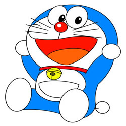 How to Draw Happy Doraemon Step by Step