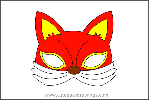 How to Draw a Fox Mask Step by Step