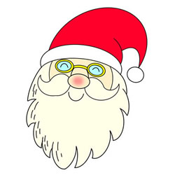 How to Draw Santa Claus with Glasses Step by Step