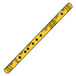 How to Draw a Realistic Flute Step by Step