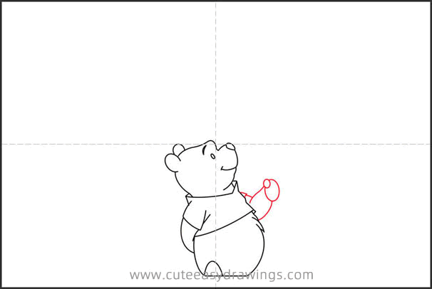 How to Draw Winnie the Pooh with Balloon Step by Step