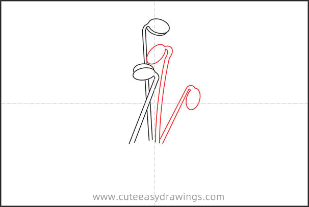 How to Draw Bean Sprouts in the Soil Step by Step