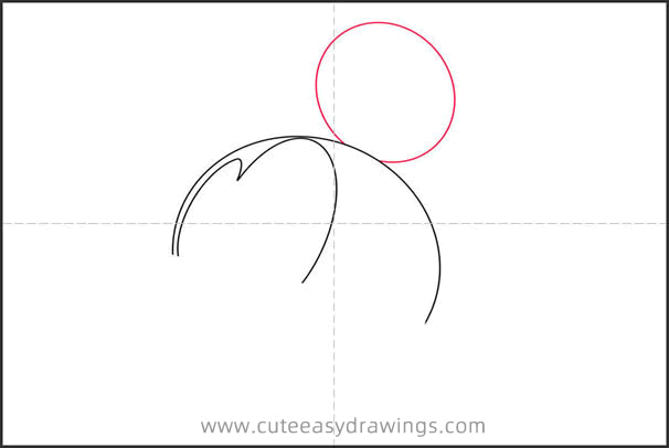 How to Draw Mickey Mouse Head Step by Step