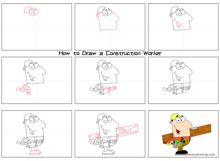 How to Draw a Construction Worker Step by Step