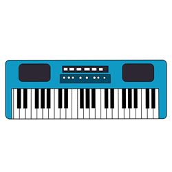 How to Draw a Synthesizer Keyboard Step by Step