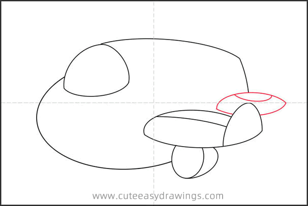 How to Draw a Small Airliner Step by Step