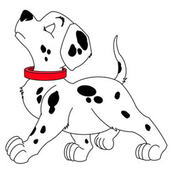 How to Draw Pongo from 101 Dalmatians Step by Step