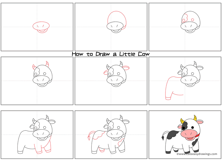 How to Draw a Calf Step by Step