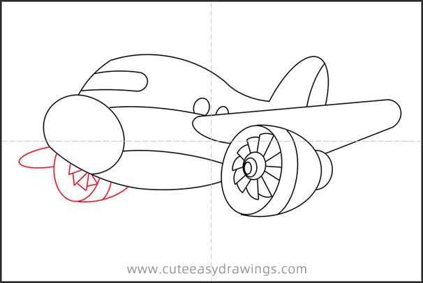 How to Draw a Passenger Plane Step by Step