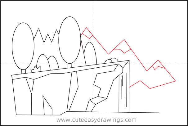 How to Draw a Cliff Step by Step