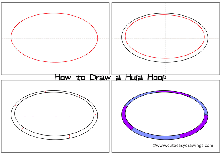 How to Draw a Hula Hoop Step by Step