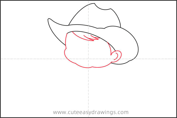 How to Draw a Little Cowboy Step by Step