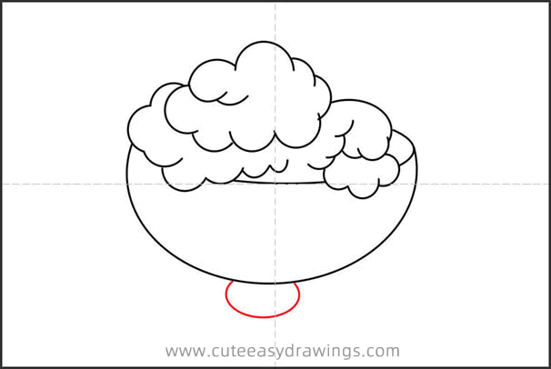 How to Draw a Bowl of Ice Cream Step by Step