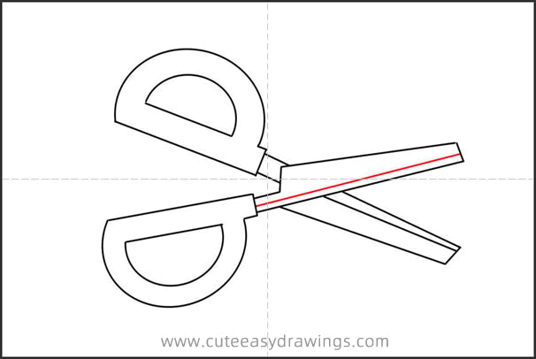 How to Draw Scissors Step by Step