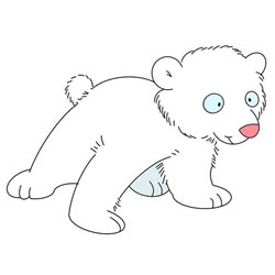 How to Draw a Baby Polar Bear Step by Step